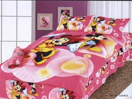 Wholesale Christmas Baby Kids Gifts Pink Bed Sets Mickey Minnie Balloon Cotton Twill Bedding Duvet Cover Pillow Case Comforter Set Sheets