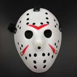 Jason Mask Halloween Party Scary Mask Cosplay Full Face White-Red Jason vs Friday Horror Hockey Film Mask