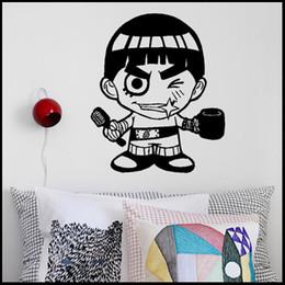 Wholesale Anime Cartoon Naruto Luo Keli Cool Propile PVC Hollow Out Environmental Wall Sticker Decal Home Decor
