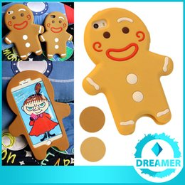 Wholesale 100x Christmas Gingerbread Man Silicone D Cartoon Case Cover For iPhone S S Plus