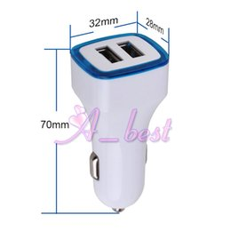 2 port Dual USB LED light 5V 3.1A car charger adapter for iphone 6 6s plus samsung galaxy S3 S4 mobile phone