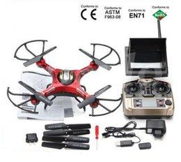 Lcd moniteur d'affichage vidéo en Ligne-JJRC H8D mode Headless 2.4Ghz One Key Retour 5.8G FPV RC Quadcopter Drone 2MP caméra FPV moniteur LCD RTF