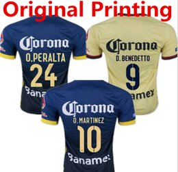 Wholesale Best Thailand Quality Mexcio Club America Home Away soccer Jersey MICKY M LAYUN O PERALTA D BENEDETTO football Shirt