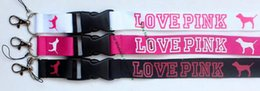 Wholesale New popular LOVE PINK Style Phone Lanyard Key Chain Neck Strap lanyard colors can be choose small