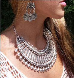 2015 hot tassel exaggerated gold  Silver Coin necklace women fashion statement necklaces & pendants for women fashion jewelry