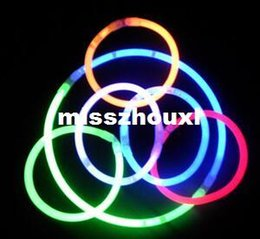 5 colors mixed 8inches(5*200mm) glow stick glow bracelet light up bracelet for party, dj, club