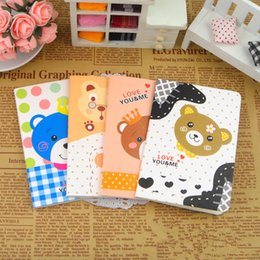 Wholesale korean stationery lovely carton note pads note book lovely little bear series note book students award a stitching binding