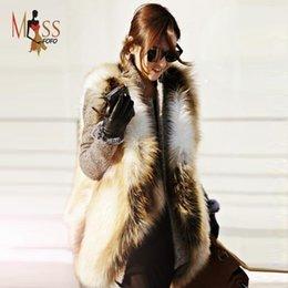 Desconto women s faux fur vest 2016 2015 inverno de alta moda de luxo colete socialite gradual pele cor do falso das mulheres grossas quentes parkas do revestimento da pele de boa qualidade