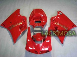 ABS Fairing for DUCATI 748 916 996 94-02 plastic body kits bodykits Injection Mold-Full Red