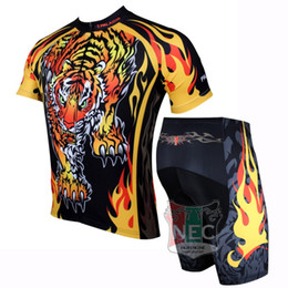109 The Tiger Blac Yellow Unique Men Short Sleeve Cycling Kit Bike outlet ciclo Jersey + Shorts Plus Size maillot Gel pad Geniune Paladin