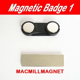 30pcs Black Magnetic Name badge Tag Holder 2 magnets Permanent Magnetic badge (30pcs lot) 32x12mm,Free Shipping