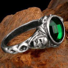 Wholesale Pirates of the Caribbean Captain jack Skull rings Personality sterling silver anillos anel feminino anillos de plata ZJ