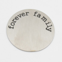 22.5MM forever family plates for 30mm round locket 316L Stainless steel Silver  plates for 30mm round locket(only plate)