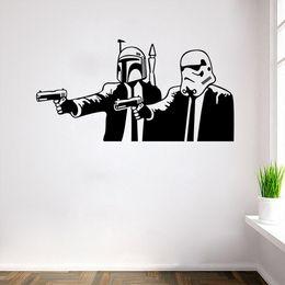 "New star wars wall sticker Unisex PVC Rooms Decal Removable wallpaper Bedroom Star Wars Wall sticker 28.4""*14.6"" FreeDHL E283L"