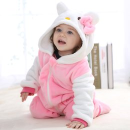 Wholesale Toddler Newborn Baby Romper Panda Months One Piece Long Sleeve Cotton Baby Costume Pink KT Animal Cosplay