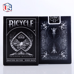 Wholesale Shadow Masters Original Bicycle Shadow Bicycle Playing Card Black Deck of Playing Cards by Ellusionist Creative Poker Magic Card