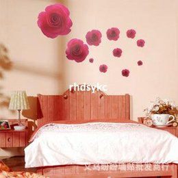 Wholesale Wall stickers home decoration Full House bedroom wall stickers Korea style sticker Rose Wall Stickers LM7011