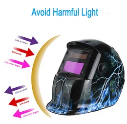 Wholesale New Stylish High Quality Blue Flash Lighting Type Solar Auto changing Shade Welding Helmet Grinding Welder Mask PIT_108