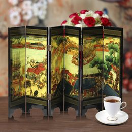 Wholesale Antique lacquer small screen pure handicrafts ornaments home decorations Feel the charm of Chinese traditional characterist