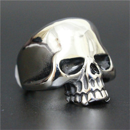 5pcs Free Shipping New Popular Cool Skull Ring 316L Stainless Steel Man Boy Fashion Personal Design Ghost Skull Ring