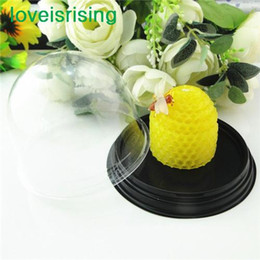 Wholesale 25 off sets Clear Plastic cake box Favor Boxes Container Wedding Favors Boxes Supplies Baby Shower Supplies