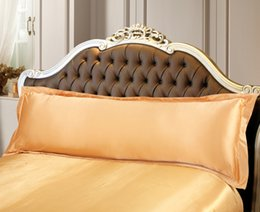 Wholesale-single people couple closure white black red pink voilet champagne silk pillow case