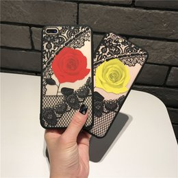 Nylon Lace Phone Case For iphone X Case Luxury Rose Flower Case Cover Iphone 8 7 6S 8plus DHL Free