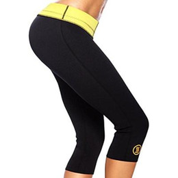 Wholesale Hot Slimming Shapers Pants Thermo Wear Capri Anti Cellulite Short Weight Loss Fitness tight pants Running pants fit