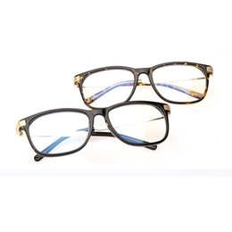 Wholesale-Male Women general anti fatigue radiation-resistant glasses the trend of fashion large frame plain mirror pc mirror goggles