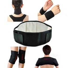 Wholesale Health Care Tourmaline self heating magnetic therapy waist support belt knee pad neck guard belt wristbands belt shoulder belt pc set