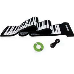 Wholesale 88 Keys Professional Silicone Flexible Roll up Electronic Piano MIDI Keyboard Musical Instruments I190