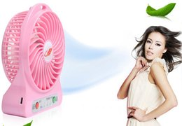 Wholesale new Mini Protable Fans Multifunctional USB Rechargerable air fan levels wind power cool summer Kids Table Fans