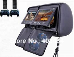 Wholesale Dual Inch Headrest Monitor Car DVD Player Zipper IR Bit Game Retail Pair