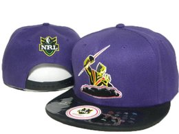 Wholesale High quality adjustable NRL Melbourne Storm AFL snapback hats for man and woman baseball caps fashion hip hop snapbacks DD