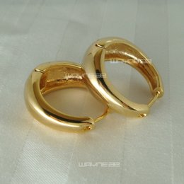 e47b-Hot sale 24K 24CT GOLD Filled Beautiful Hoop Earrings