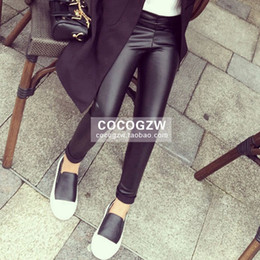 Wholesale 2016 New Autumn fashion Kids Girls Faux Leather Tights Leggings Baby girl Shiny Silver Gold Tight pants babies clothes children s clothing
