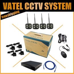 SONY 222 Wireless Wifi IP Camera 4PCS 1080P Bullet Weatherproof P2P With 4CH 1080P NVR kit System Surveillance CCTV System Kit