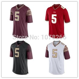 Factory Outlet- Free shipping Florida State Seminoles (FSU) 5 Jameis Winston jersey Stitched Red White Black Cheap College Football Jerseys