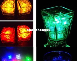 Luminary Lamps Wedding Ice Cubes LED Glow Novelty Party Sparkling Lights Ice Cubes Light Up Toys