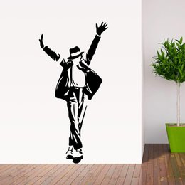 Wholesale Best Selling Dancing Michael Jackson Wall Stickers Removable Vinyl wall Decor Wall decals Art Poster DIY Home Decor