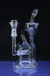 Recycler Oil Rigs-Water Pipes 2015 Pulse Glass Barrel Drum Recycler-14.5mm Male Joint-8 inches Tall-Clear Glass