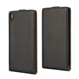 For Sony Xperia Z5 Texture Real Flip Leather Case Cover