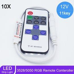 Wholesale Led Dimmer Mini Rf Wireless - New 11 keys 12V Mini LED Controller RF Wireless Remote Dimmer for 5630 5050 3528 LED Strip Ribbon Light Single Color