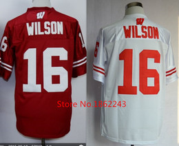 Wholesale Factory Outlet Discount Men s Russell Jersey Cheap Wisconsin College Football Jerseys Stitched Authentic High School Embroidery Logo