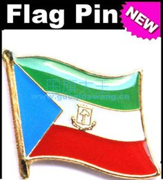 Free shipping Equatorial Guinea Metal Flag Badge Flag Pin