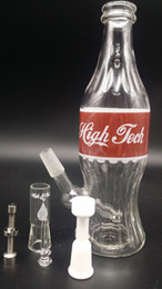 Wholesale 2015 New glass bong High Tech Glassworks quot Coca Cola quot Rig with Red Label mm Male Joint inches