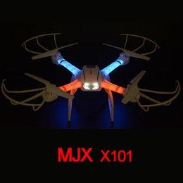 Promotion vidéo rc MJX X101 2.4G 6-Axis Gyro Headless / 3D Rouleau / Hélicoptère RC One Key retour Quadcopter RC