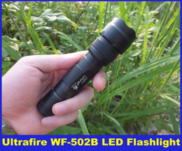 Wholesale Led Free Delivery - 2015 New High Quality UltraFire WF-502B 1000 Lumens CREE XM-L T6 LED Flashlight Torch 5-Mode 18650 & DHL Free Delivery
