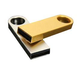 Wholesale New GB Metal USB2 Flash Memory Drive Stick Pen Thumb Key Cute U Disk Silver GOLD