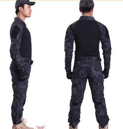 Wholesale MANDRAKE Rattlesnake Gen Tactical Battle Tight Suits military camouflage uniform Frog Combat Airsoft clothing T Shirt Pants